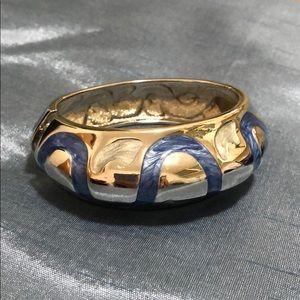 Jewelry - Chunky Silver & Blue Bracelet